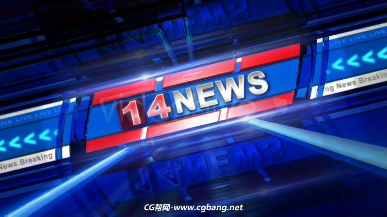 TV电视新闻频道片头栏目包装设计AE模板