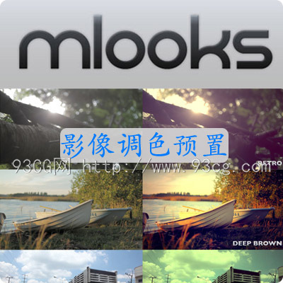 FCPX插件 mLooks 影像调色60种预置 for Final Cut Pro X