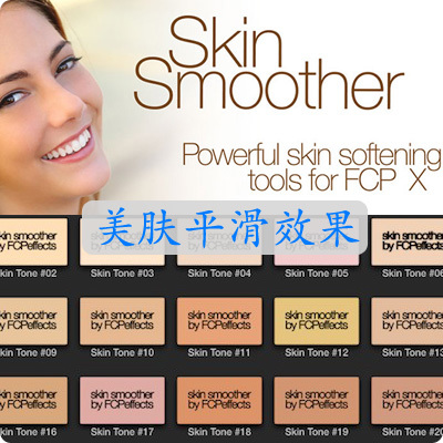 FCPX插件 Skin Smoother 美肤平滑去皱效果 for Final Cut Pro X