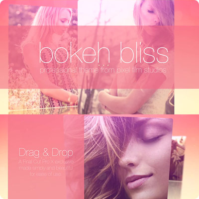 FCPX插件 Bokeh Bliss 背景虚化时尚唯美小清晰图文动画展示包装