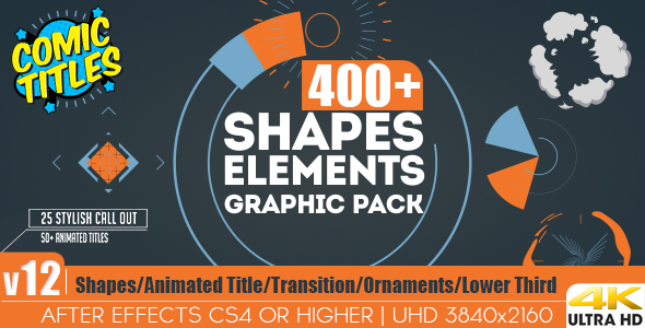 AE模板 MG动画图像图标素材库Shapes & Elements Graphic Pack