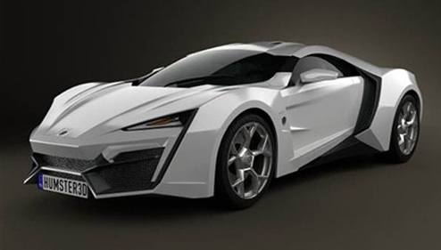C4D模型下载 三维汽车3D model of W Motors Lykan HyperSport