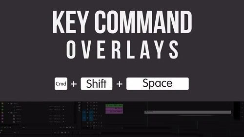 教程制作快捷键显示PR工具Key Command Overlays For Tutorials