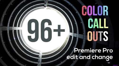 96+ Color Call Outs V2.0  Premiere Pro Templates