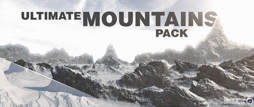 山脉山川C4D模型库 Ultimate Mountains Pack