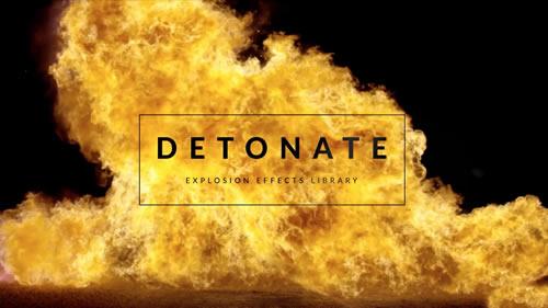 50种爆炸视频特效带通道视频素材下载  50+ Explosion Effects