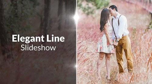 高端线条优雅电子相册PR模板下载 Elegant Lines Slideshow