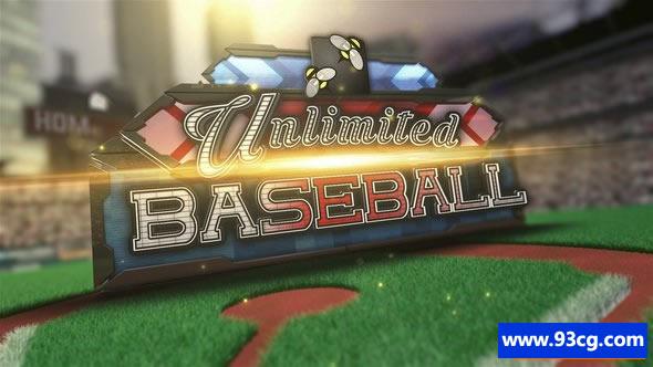 棒球体育节目栏目包装ae模板