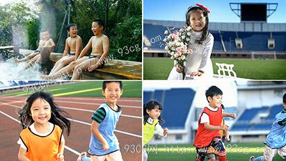 5组儿童快乐奔跑运动游泳戏水幸福童年生活 高清实拍视频素材