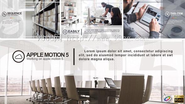 Apply Motion模板:迷你简洁公司企业商务宣传推广介绍幻灯片图文