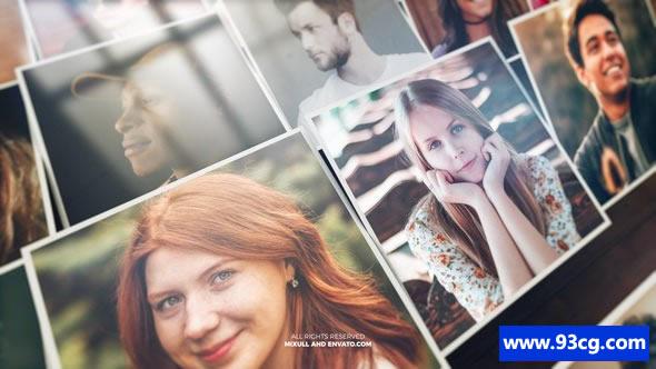 魔法特效照片展示 ae视频模板下载 Mosaic Photo Reveal