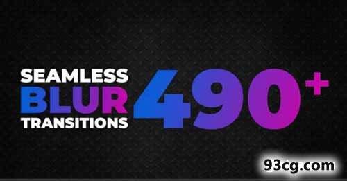 PR模板下载 490+无缝模糊转场视频模板 - Premiere Pro模板