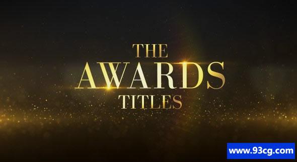 奖项标题 颁奖典礼 视频模板下载 AE视频模板下载