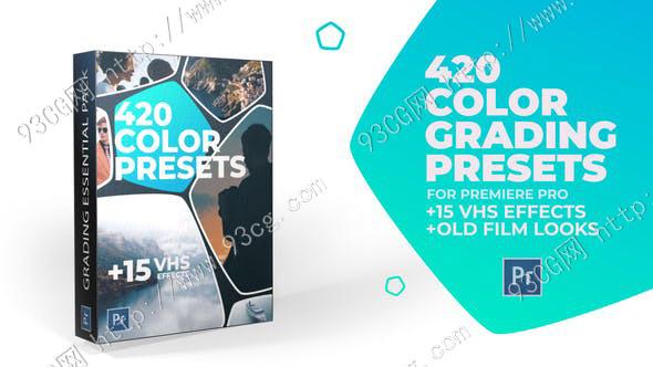 PR模板:420个LUTs创意旅行VLOG时尚婚礼人物环境+20个老电影预设