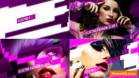 AE模板 流行时尚电子相册模板Electro Fashion Slides
