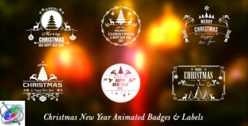 FCPX插件 新年圣诞节节日祝福Christmas New Year Badges