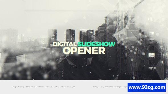 数字电子相册开场视频模板下载 Digital Slideshow I Opener