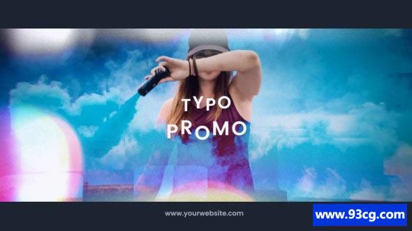 AE模板下载 流行通用开场预告宣传片Modern Typography Promo