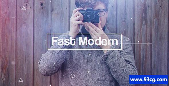 AE模板下载 快速现代 流行时尚通用开场片头模板下载Fast Modern