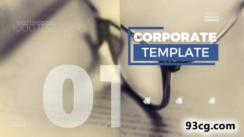 PR模板 迷你简洁企业开场预告宣传片Minimal Corporate Promo