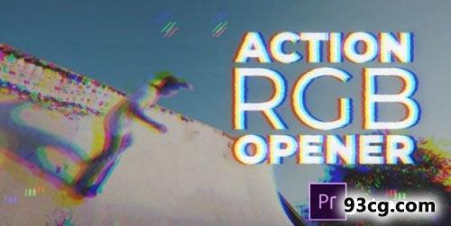 PR模板下载 颜色差别变化开场视频模板下载Action RGB Opener
