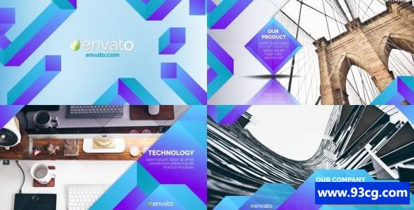 AE模板 简洁清洁企业幻灯片 电子相册Clean Corporate Slideshow