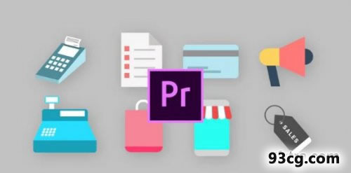 PR模板 购物动画图标 Shopping Animated Icons  - Premiere Pro