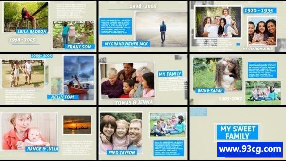 AE模板下载 我的甜蜜家庭电子相册模板  My Sweet Family
