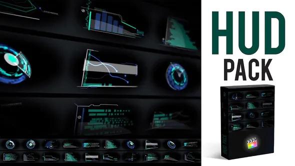 fcpx插件 高科技元素素材库包HUD Elements Pack