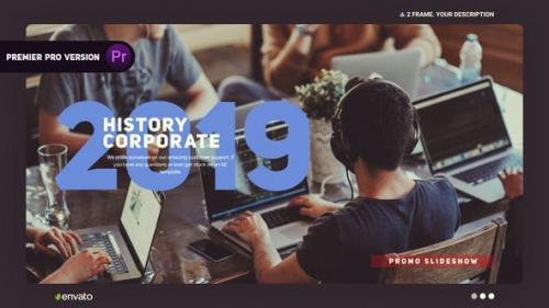 PR模板:公司企业商务图文历史记录视频PR片头下载 Corporate His Premiere模板 第1张