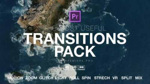 最有用的过渡转场视频 pr模板下载 The Most Useful Transitions pr模板 第1张