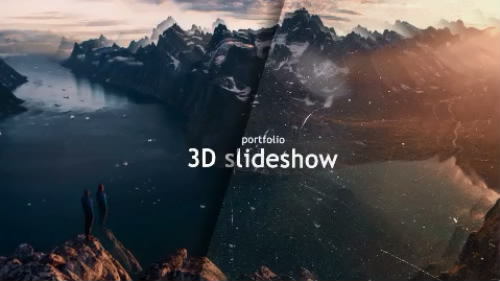 相片3D效果展示AE模板 3D Reality Slideshow