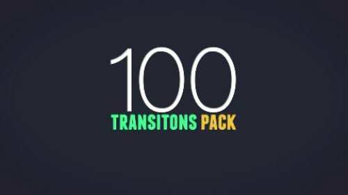 100组MG动态图形转场动画AE模板 Creativemarket 100 Transitions