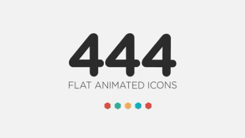 AE模板 444组动态图标动画 444 Flat Icons - The Ultimate Icon