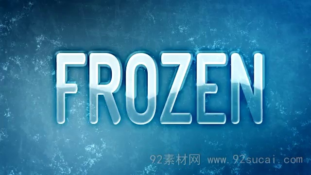 冻结文字特效AE模板教程 Freezing-Ice Animation